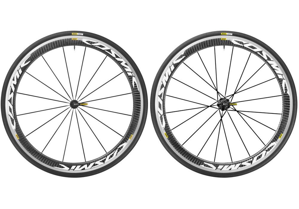 Mavic Cosmic Pro Carbon 17 hjul Shimano 25 vit/svart - till fenomenalt pris på Bikester